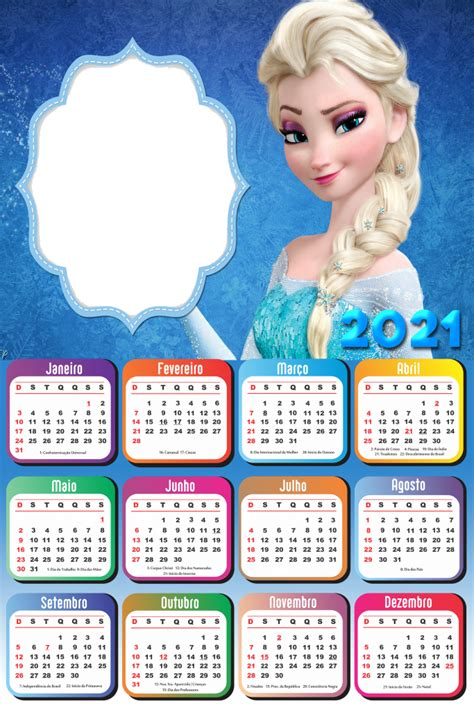 calendario  princesa  gelo elsa frozen imagem legal