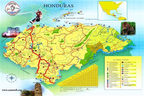 detailed  largest honduras map  flag travel