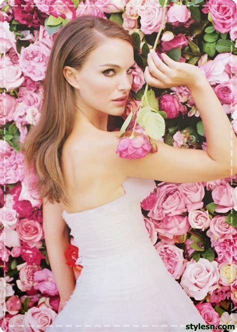 Natalie Portman Hairstyle Floral Pub Parfum