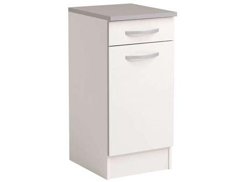 meuble de cuisine profondeur 40 cm meuble bas 40 cm 1 porte 1 tiroir spoon coloris blanc