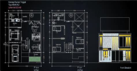 desain rumah kontrakan minimalis  lantai desruma