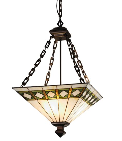 stained glass inverted pendant light meyda 17391 inverted pendant