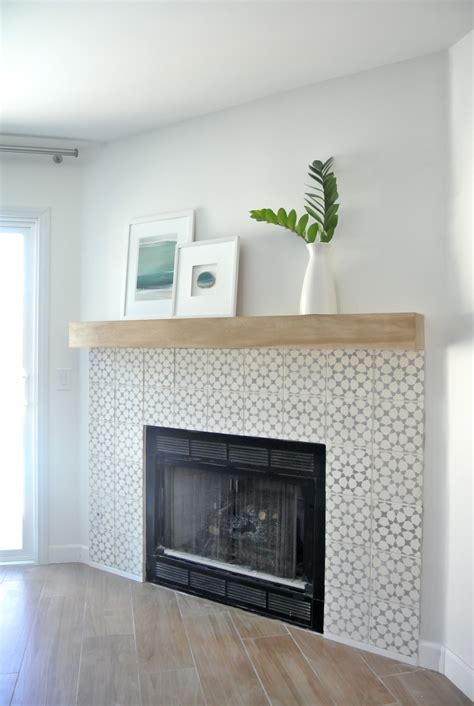 fireplace wall tile diy fireplace makeover centsational style