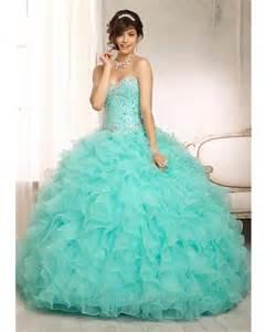 Aqua Color Quinceanera Dresses
