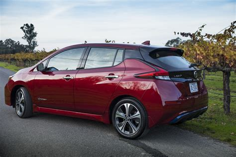 nissan leaf      hp  mile range