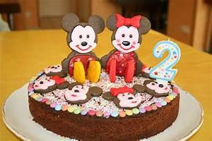 Gateau Anniversaire 2 Ans : g teau d anniversaire mickey et minnie pour juliette 2 ans ~ Farleysfitness.com Idées de Décoration