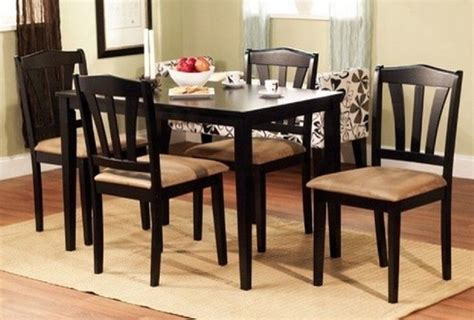 black dining room set dining table with 4 chairs on black dining room kitchen table set with 4 chairs wood