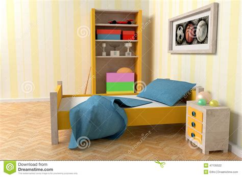 Kid Room And Wall Decoration 3d Illustration Stock Image