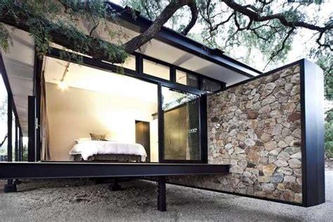modern house design blending stone steel  wood