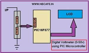 Digital Voltmeter (0-50v) using PIC Microcontroller