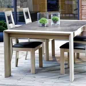 Table à Manger Carrée : table de salle manger en c ramique rectangle carr e conception a 4 ~ Teatrodelosmanantiales.com Idées de Décoration