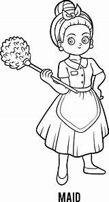 Coloring Maid sketch template