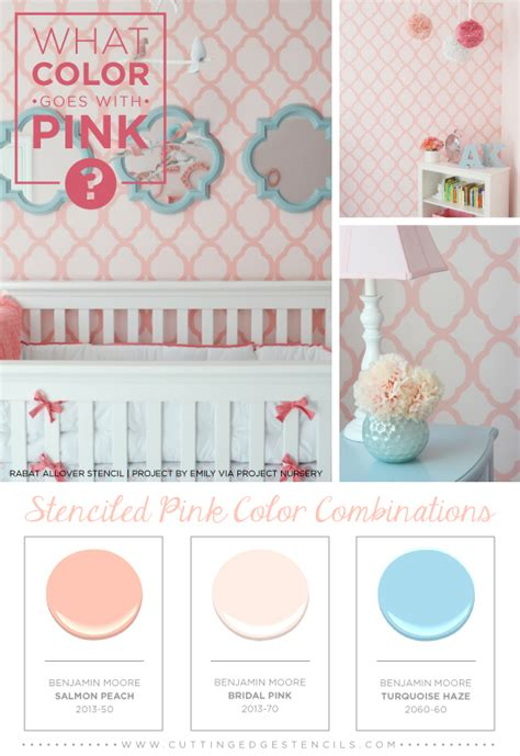 what color goes with pink what color goes with pink stenciled pink color combinations stencil stories stencil stories