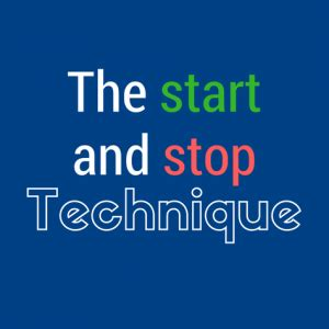start stop methode how to do the start and stop method step by step