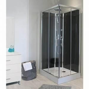 cabine de douche rectangulaire hydromassante selia With porte de douche coulissante avec meuble salle de bain lt aqua