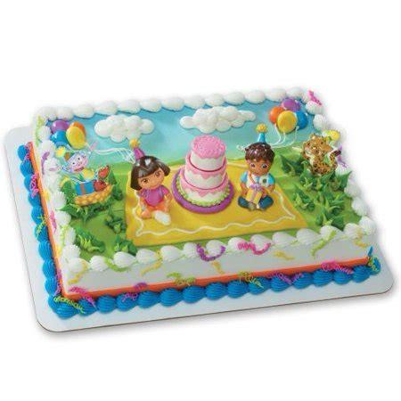 dora  explorer birthday celebration decoset cake