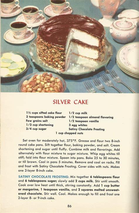 vintage recipes  cakes silver cake