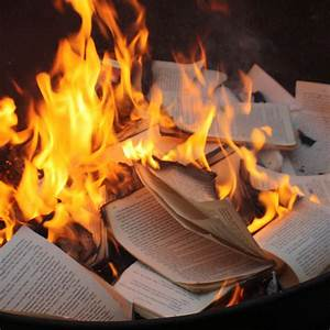 national review With burning documents