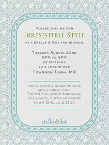 165 best images about stella dot trunk shows on With stella and dot invitation templates