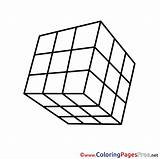 Cube Colouring Printable Rubik Coloring Rubiks Sheet Sheets Title sketch template