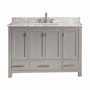 modero chilled gray 48 inch vanity only avanity vanities With 48 inch bathroom vanity cabinet only