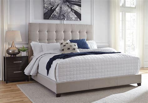 bed upholstered beige queen king dolante beds b130 bedroom overstock