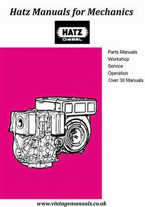 Hatz E Series Diesel Engine Workshop Manual