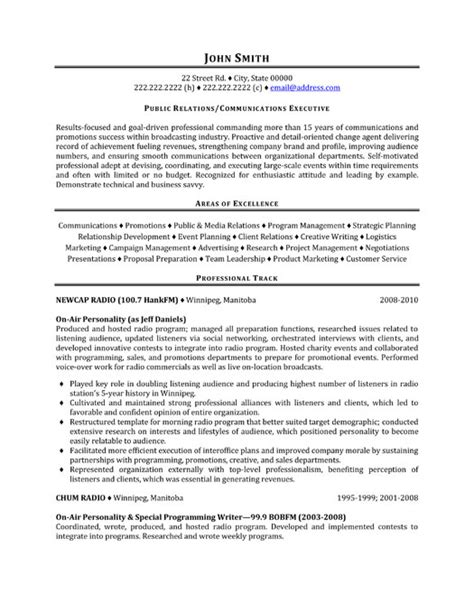 Pr Resume Format by Top Relations Resume Templates Sles