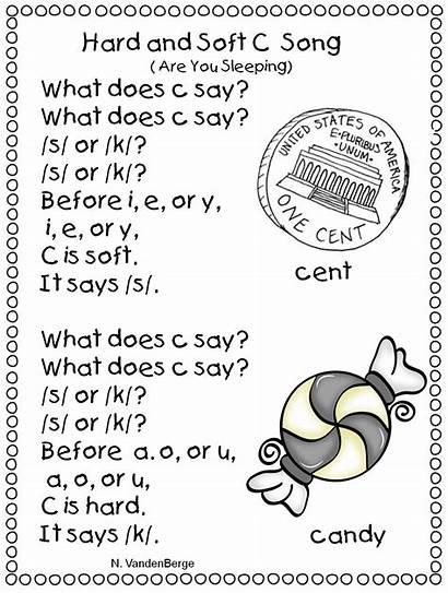 Soft Hard Grade Song Sounds Worksheets Words