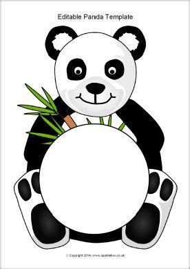 editable panda template sb sparklebox panda