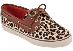 Leopard Sperry Shoes for Women