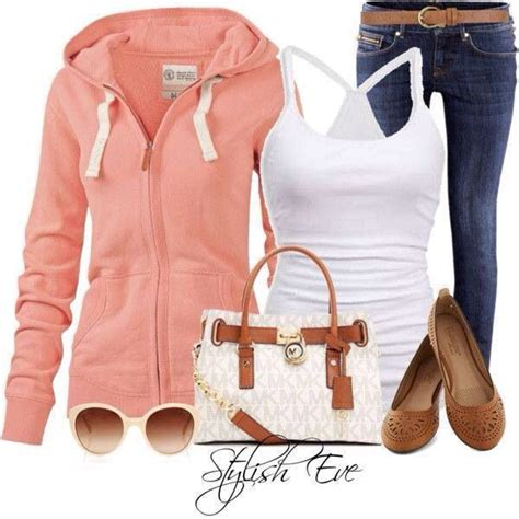I love this peach hoodie glasses and shoes and MK | casual outfits | Pinterest | Menu0026#39;s fashion