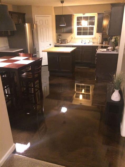 metallic epoxy kitchen floor  floor   coffee