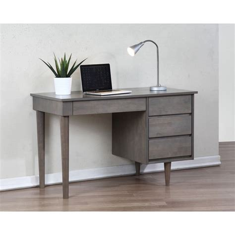 gray desk with drawers vintage desk grey
