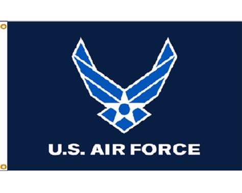 3x5 U.s. Airforce Air Force Light Blue Wings Knitted Nylon
