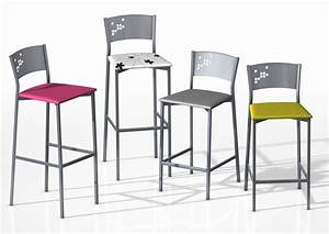 tabouret de bar hauteur assise 85 cm mobilier design With hauteur de bar cuisine