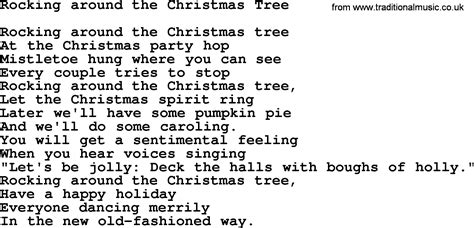 Catholic Hymns, Song Rocking Around The Christmas Tree