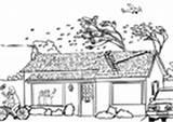 Coloring Kleurplaat Tsunami Hurricane Flood Storm Hongersnood India Printable Edupics sketch template