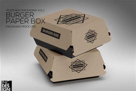 burger box mock up template burger box packaging mockup pinterest burgers box