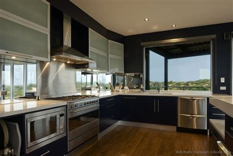 modern kitchen design idea modern blue kitchen cabinets pictures design ideas