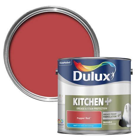 Dulux Kitchen Pepper Red Matt Emulsion Paint 2500ml