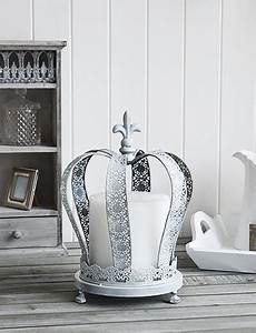 large grey crown candle holder the white lighthouse With kitchen cabinets lowes with crown votive candle holder