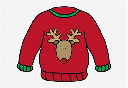 Sweater Clipart Ugly Clip Holiday Transparent Tacky
