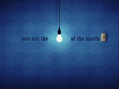 the world of lights you are the light of the world this unlit light