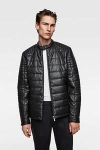 Veste Matelassée Homme Zara : acheter vestes en cuir homme zara en ligne ~ Dode.kayakingforconservation.com Idées de Décoration