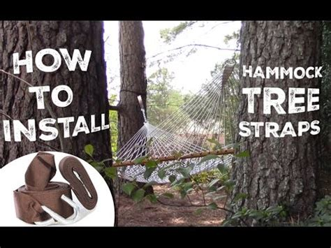 How To Use Hammock Tree Straps by How To Install And Use Your Hammock Tree Straps