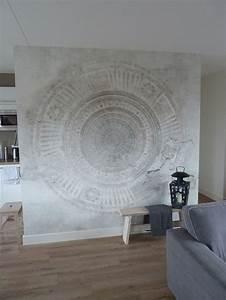 Papier Peint Art Deco : wall and deco tapete papier peint mandala wall of fame ~ Dailycaller-alerts.com Idées de Décoration