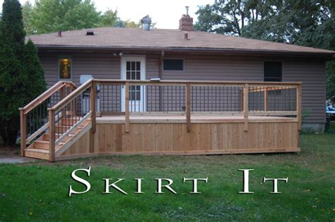 Raised Deck Skirting Ideas by Ideas For Raised Front Porch Studio Design Gallery