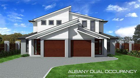 albany double storey duplex home design tullipan homes