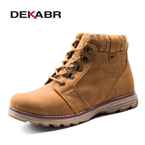 Aliexpress Buy Dekabr Leather Men Boots Autumn